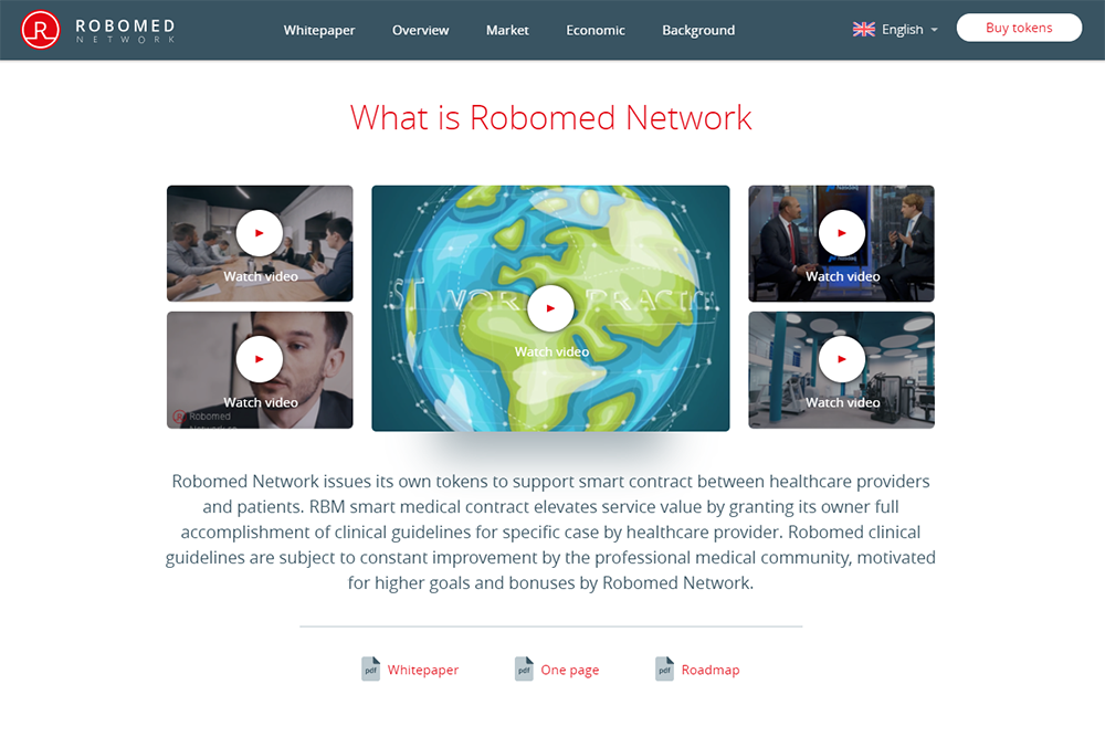 Сайт проекта Robomed Network